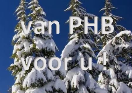 Kerstcadeau aan alle relaties van PHB !